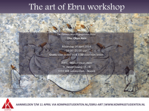 Reeks 'Culture brings together' – Ebru Workshop
