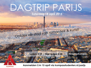 18 april: Dagtrip Parijs!